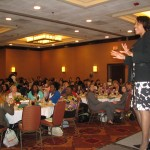 Sarita speaking to 300 people at Raleigh, NC Executive Women's Luncheon