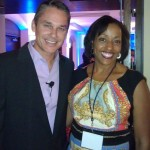 Posing with leadership expert and fellow speaker Marcus Buckingham at NMA Conference