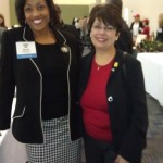 Post-keynote pose with Society of Govt Meeting Planners (SGMP) Sacramento President Marie Ziegler
