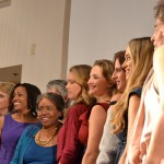 Sarita (far left in purple) and other speakers at TEDx America's Finest City Women Event
