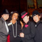 "Sarita (2nd from left) at ""Roaring 20's"" Reception on Queen Mary before speaking"