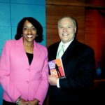 Sarita with Bill Griffith of ABC News after interview about her book