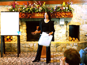 Sarita helping staff turn negativity into possibility at Lake Arrowhead retreat