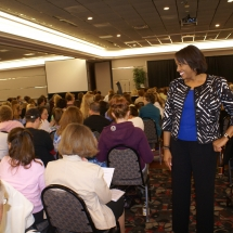 Sarita Maybin engaging with her audience in North Dakota