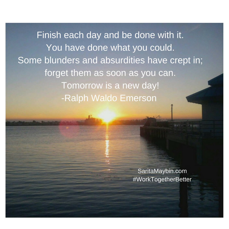 Tomorrow is a New Day Pic Quote